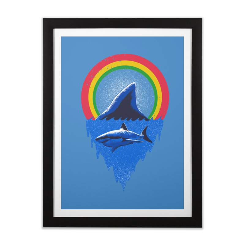 Save the shark Home Framed Fine Art Print by barmalisiRTB