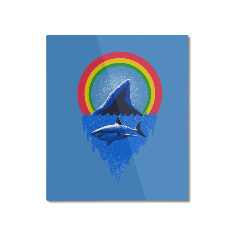 Save the shark Home Mounted Aluminum Print by barmalisiRTB