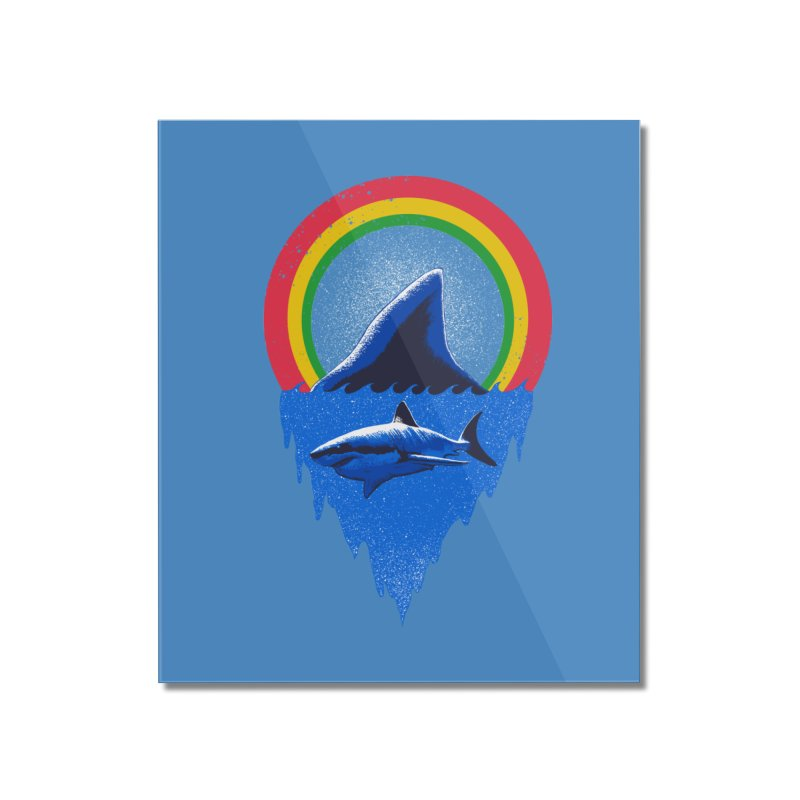 Save the shark Home Mounted Acrylic Print by barmalisiRTB