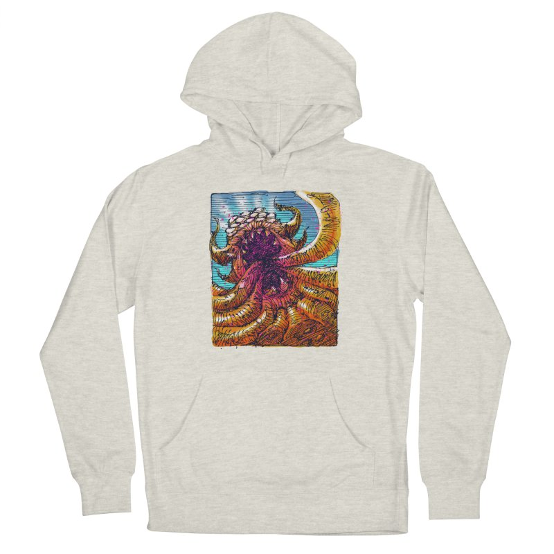 Tentacle monster Men's French Terry Pullover Hoody by barmalisiRTB