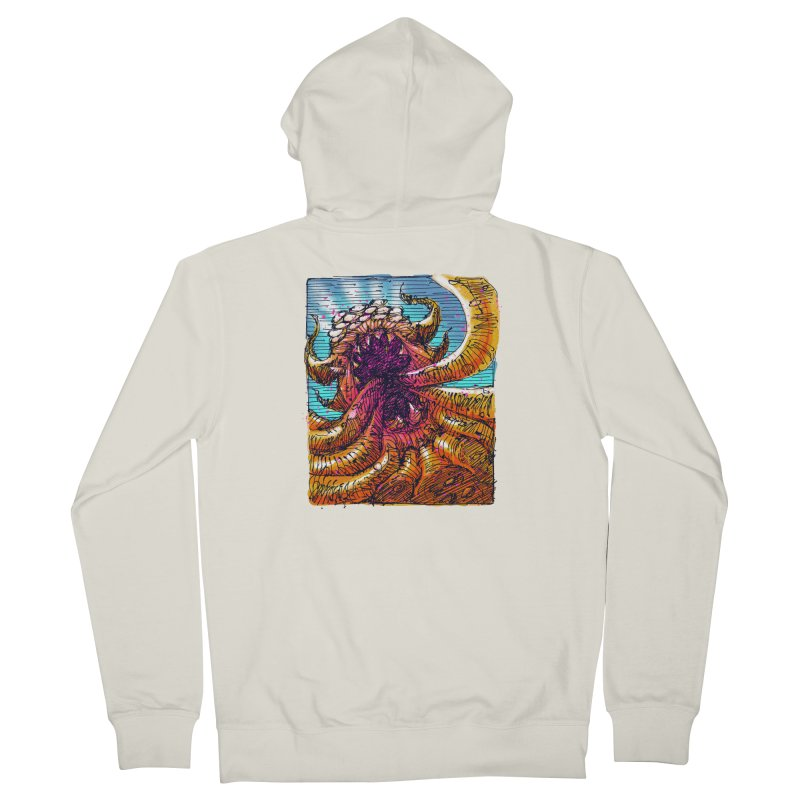 Tentacle monster Men's French Terry Zip-Up Hoody by barmalisiRTB