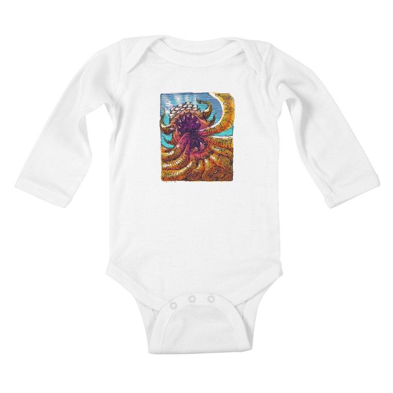 Tentacle monster Kids Baby Longsleeve Bodysuit by barmalisiRTB