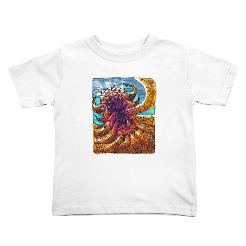 Tentacle monster Kids Toddler T-Shirt by barmalisiRTB