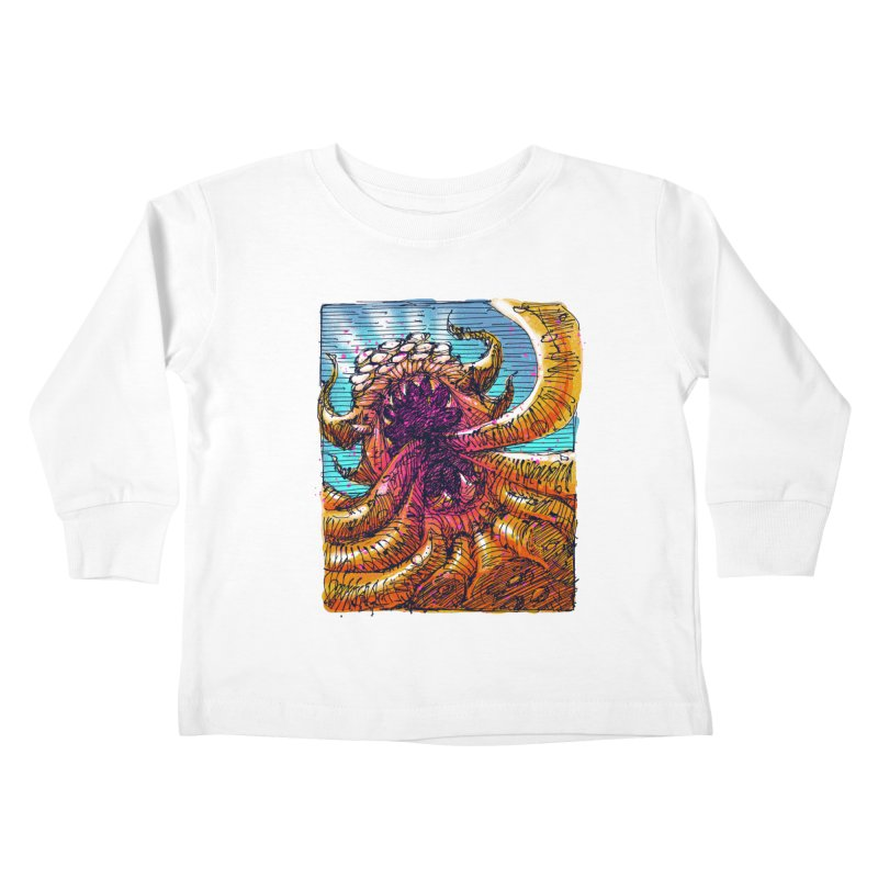 Tentacle monster Kids Toddler Longsleeve T-Shirt by barmalisiRTB