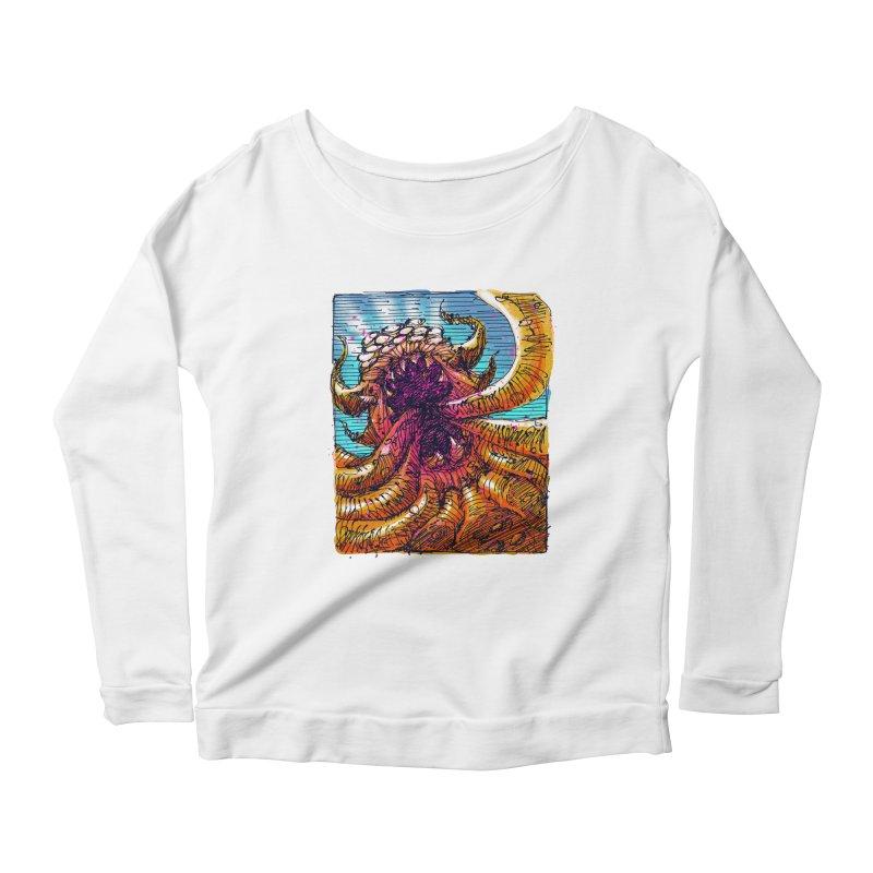 Tentacle monster Women's Scoop Neck Longsleeve T-Shirt by barmalisiRTB