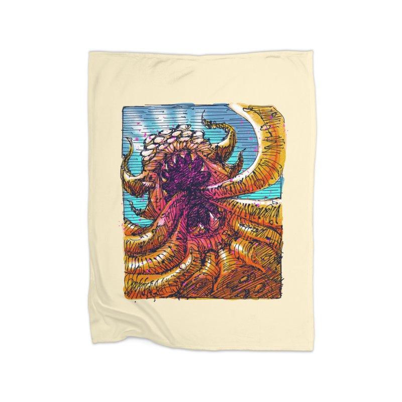 Tentacle monster Home Fleece Blanket Blanket by barmalisiRTB