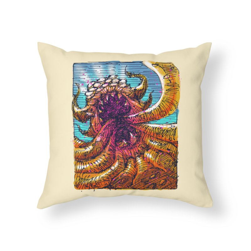 Tentacle monster Home Throw Pillow by barmalisiRTB