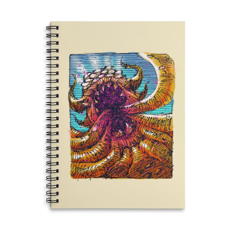 Tentacle monster Accessories Lined Spiral Notebook by barmalisiRTB