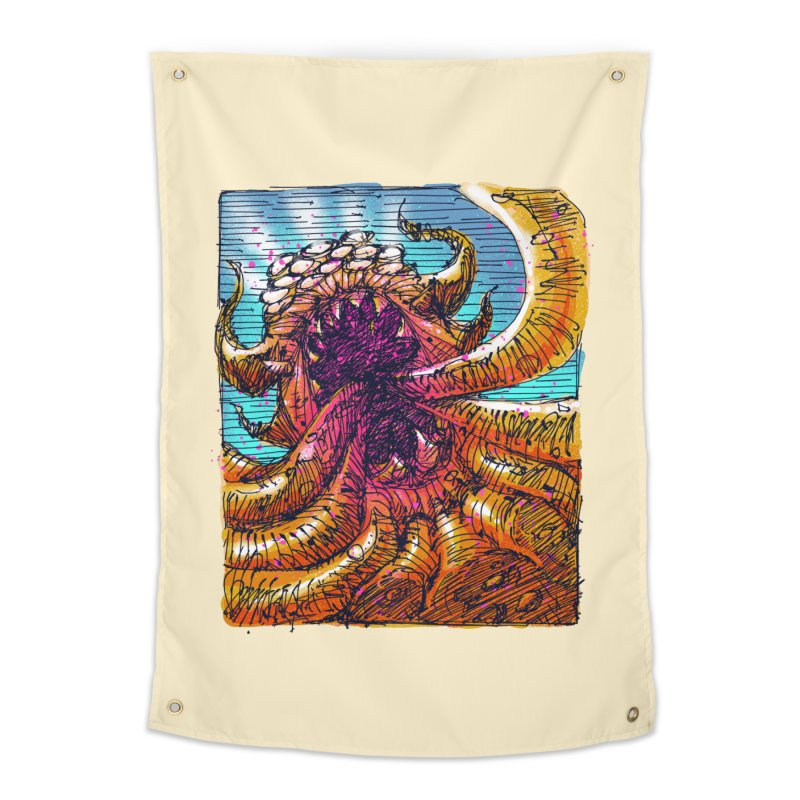 Tentacle monster Home Tapestry by barmalisiRTB