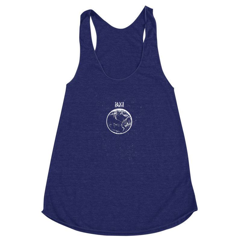 SAVE Earth Women's Racerback Triblend Tank by barmalisiRTB