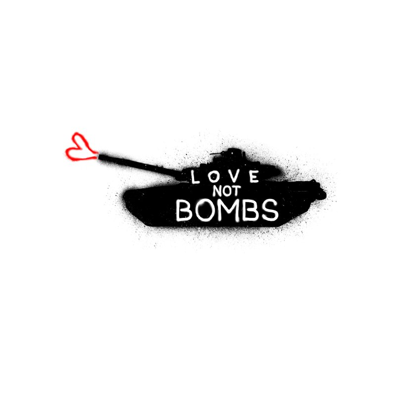 Love not bombs Home Shower Curtain by barmalisiRTB