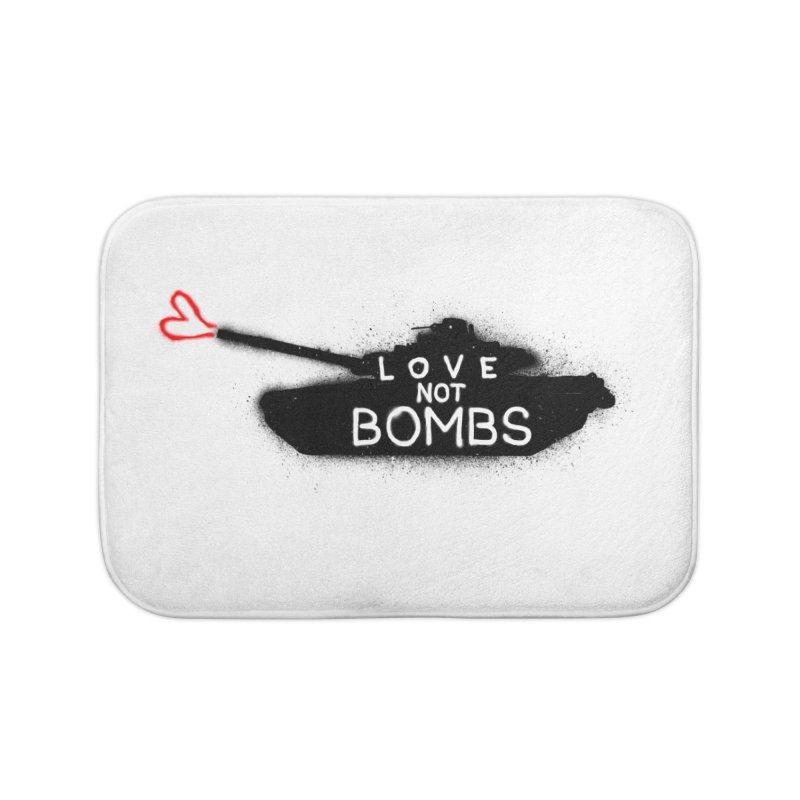 Love not bombs Home Bath Mat by barmalisiRTB