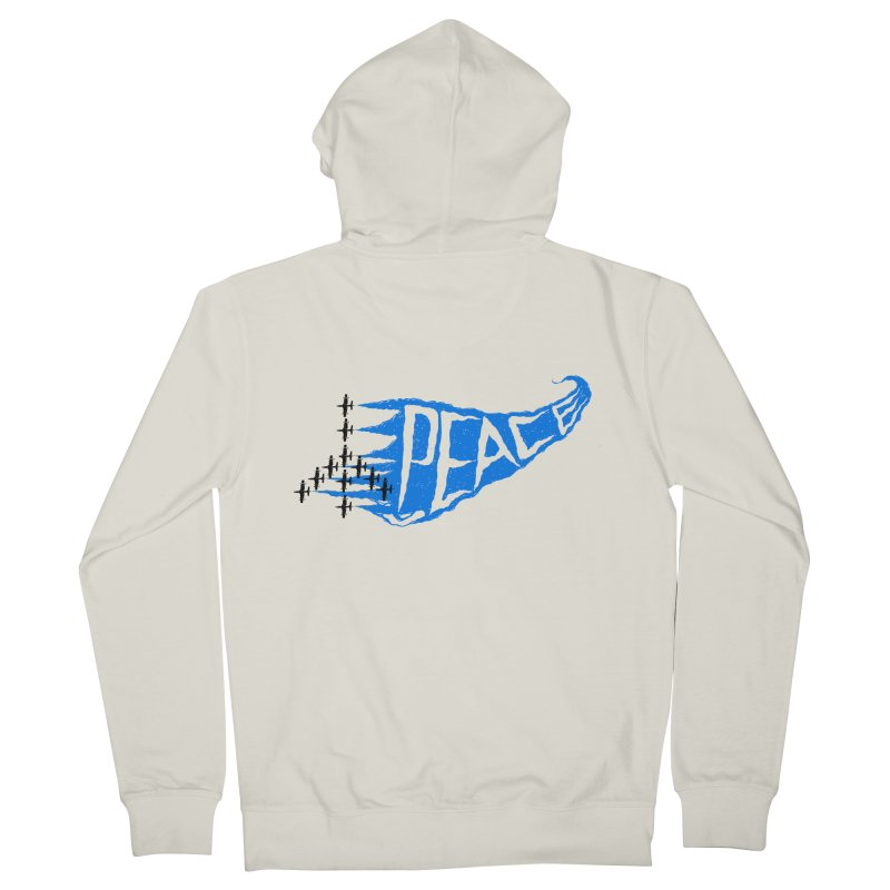 Peace Plane Women's Zip-Up Hoody by barmalisiRTB