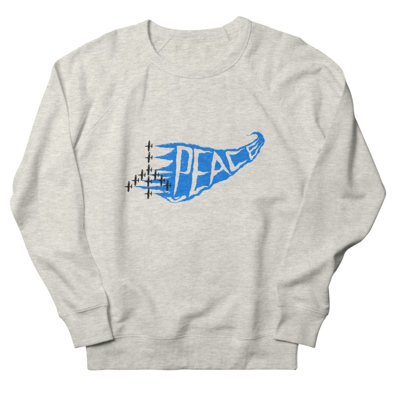 Peace Plane Men's Sweatshirt by barmalisiRTB