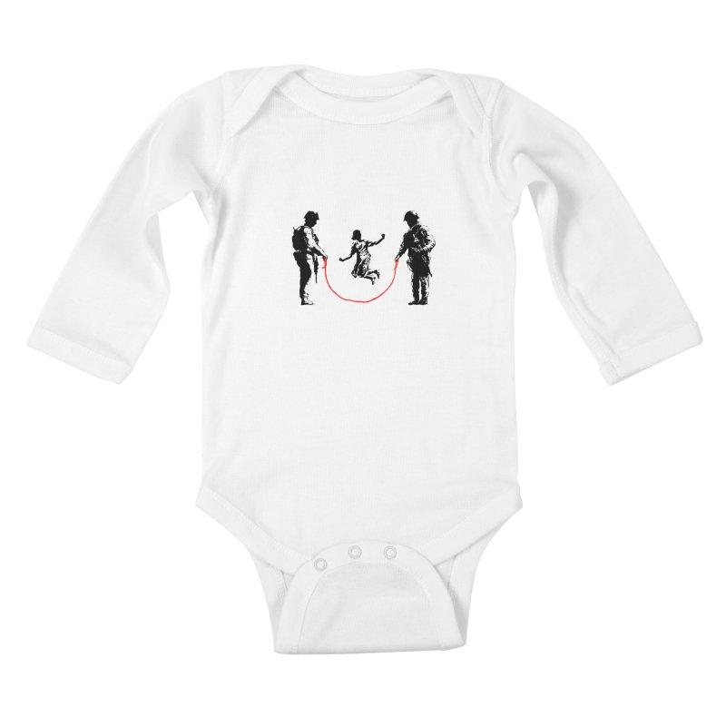 Happy children Kids Baby Longsleeve Bodysuit by barmalisiRTB