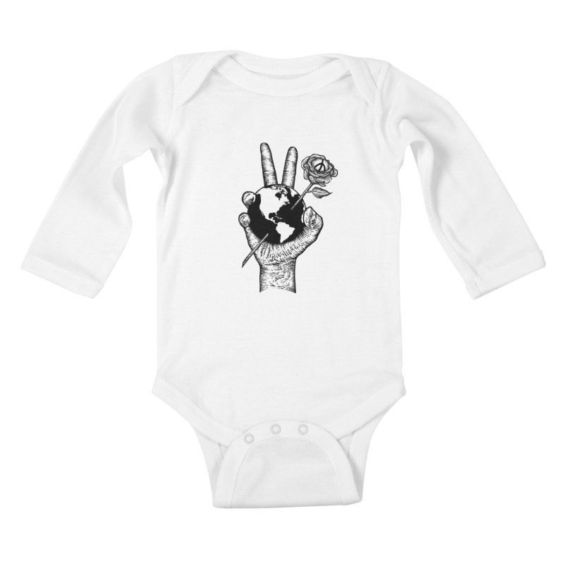 peace world Kids Baby Longsleeve Bodysuit by barmalisiRTB