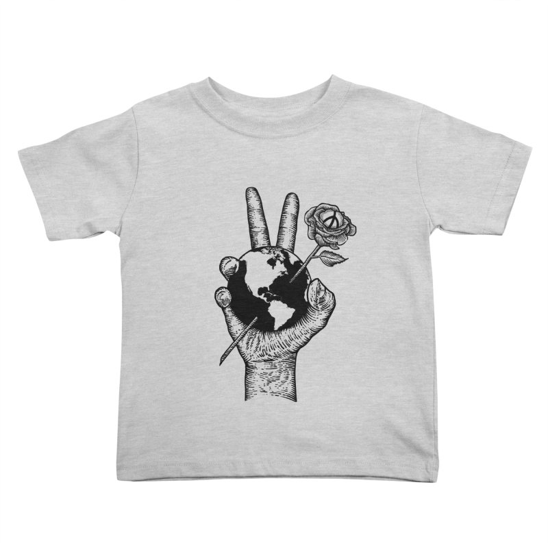 peace world Kids Toddler T-Shirt by barmalisiRTB