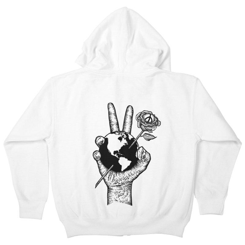 peace world Kids Zip-Up Hoody by barmalisiRTB
