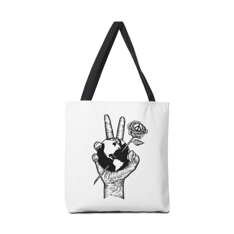 peace world Accessories Bag by barmalisiRTB
