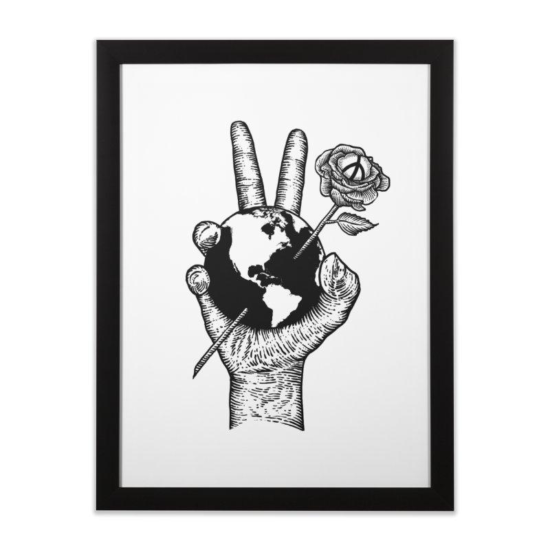 peace world Home Framed Fine Art Print by barmalisiRTB