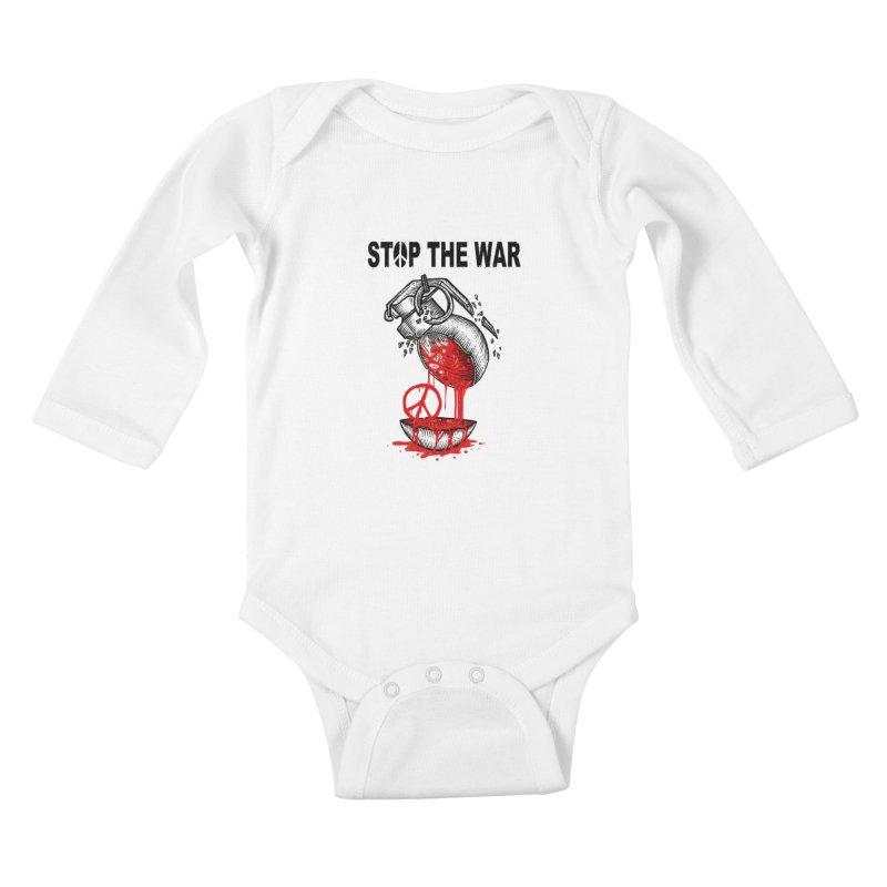 Stop The War Kids Baby Longsleeve Bodysuit by barmalisiRTB
