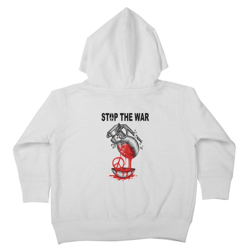 Stop The War Kids Toddler Zip-Up Hoody by barmalisiRTB