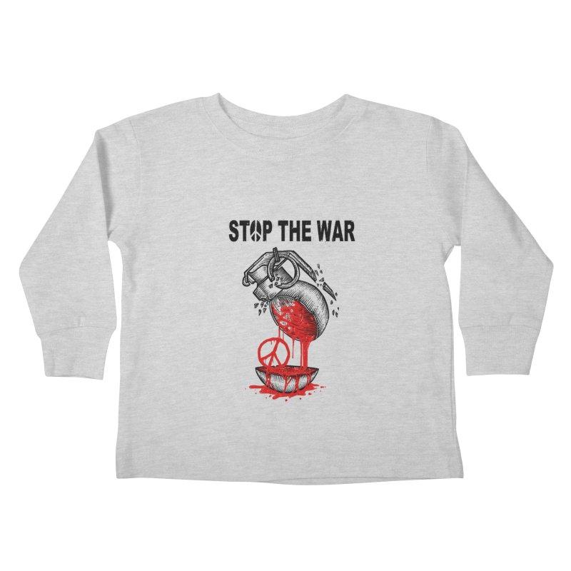 Stop The War Kids Toddler Longsleeve T-Shirt by barmalisiRTB