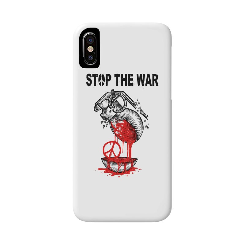 Stop The War Accessories Phone Case by barmalisiRTB
