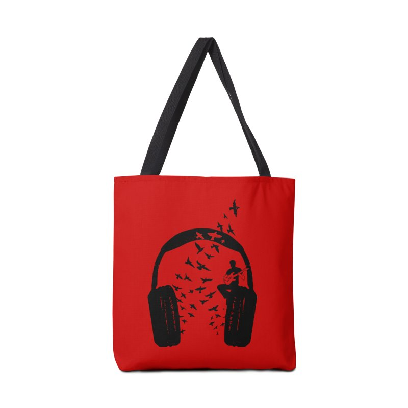 Headphone Electric Guitar Accessories Tote Bag Bag by barmalisiRTB
