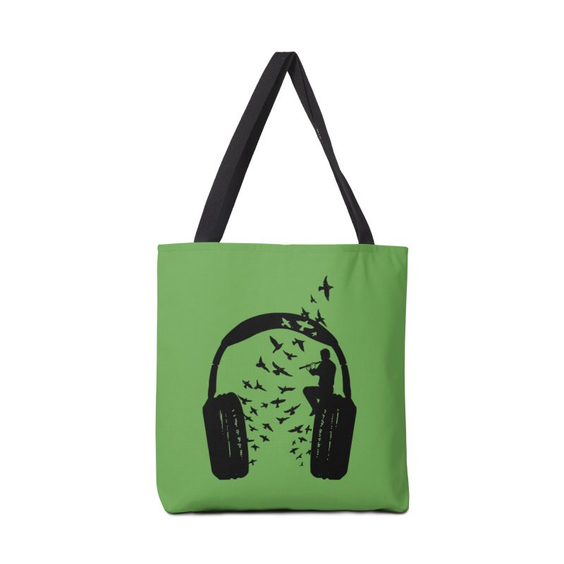 Headphone Flute Accessories Tote Bag Bag by barmalisiRTB
