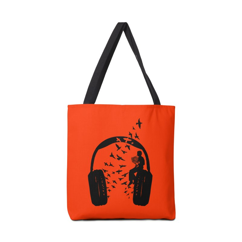 Headphone French Horn Accessories Tote Bag Bag by barmalisiRTB