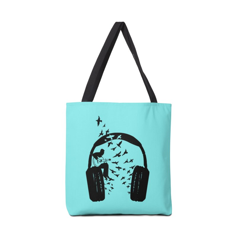 Headphone guitar Accessories Tote Bag Bag by barmalisiRTB