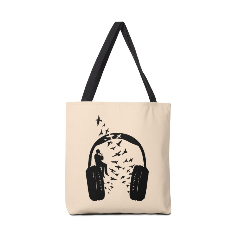 Headphone Harmonica Accessories Tote Bag Bag by barmalisiRTB