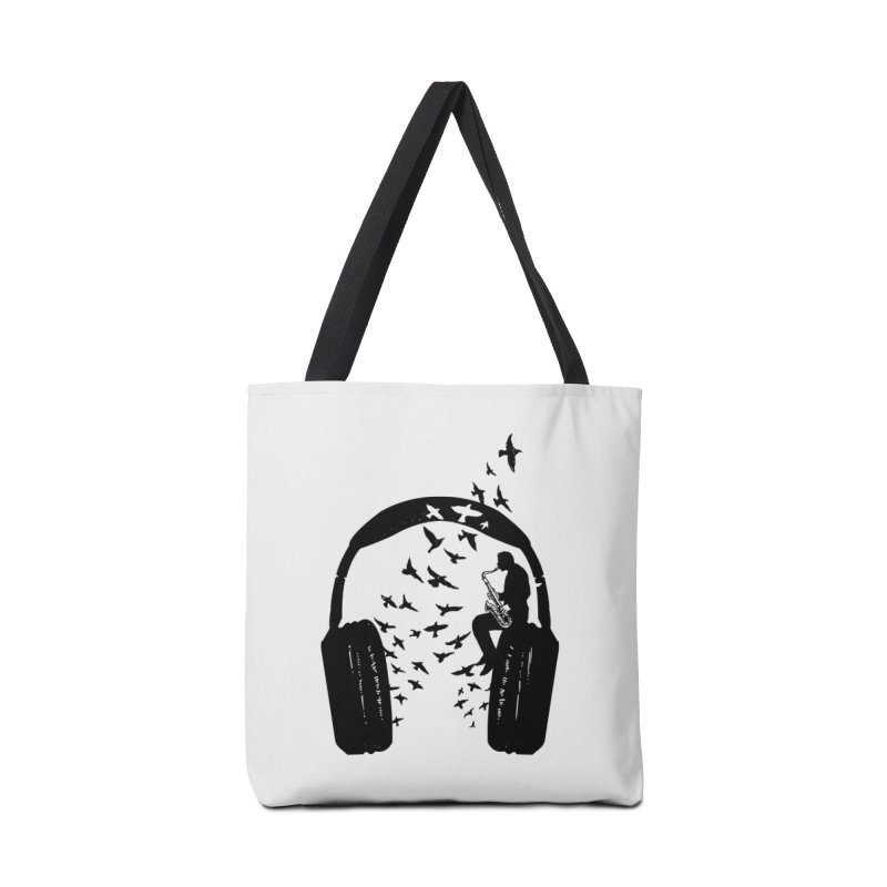Headphone Saxophone Accessories Tote Bag Bag by barmalisiRTB