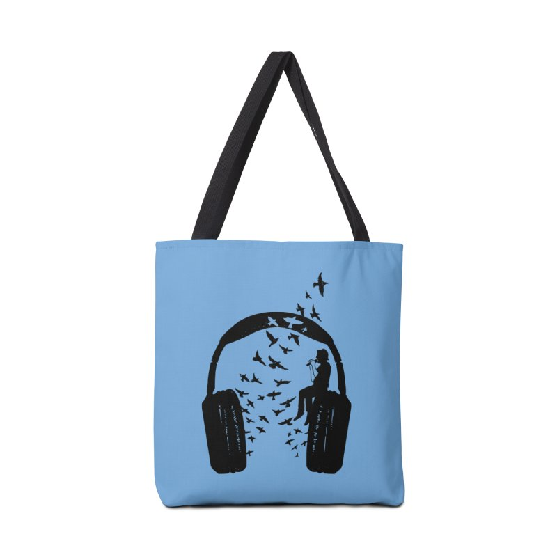 Headphone Singer Accessories Tote Bag Bag by barmalisiRTB