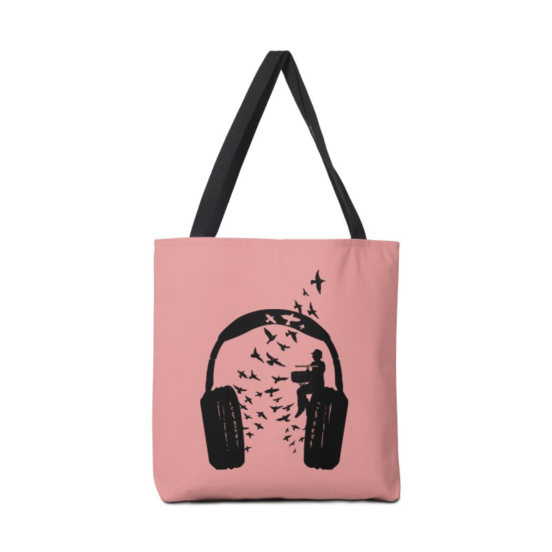 Headphone Snare drum Accessories Tote Bag Bag by barmalisiRTB