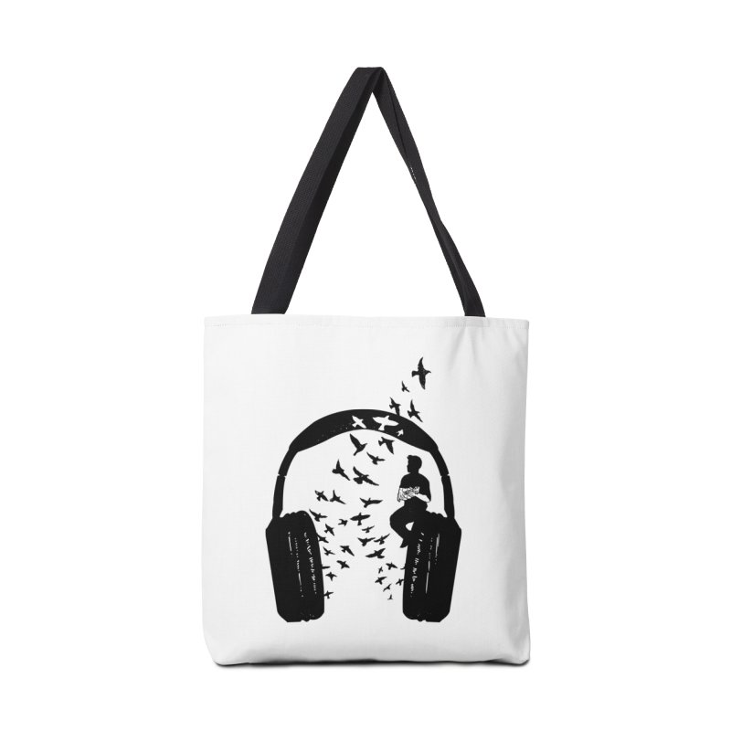 Headphone Ukulele Accessories Tote Bag Bag by barmalisiRTB