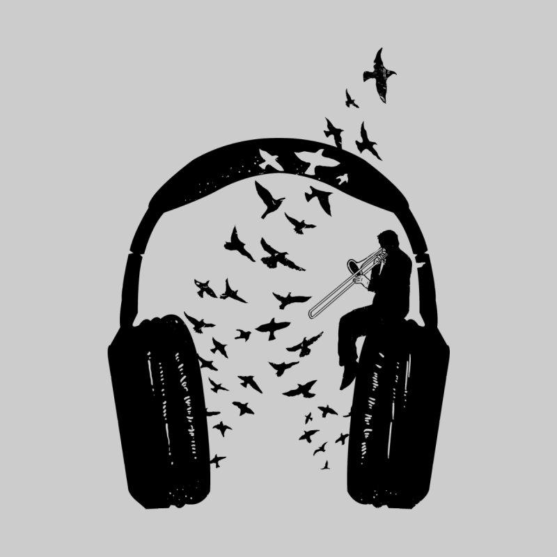 Headphone Trombone Men's T-Shirt by barmalisiRTB
