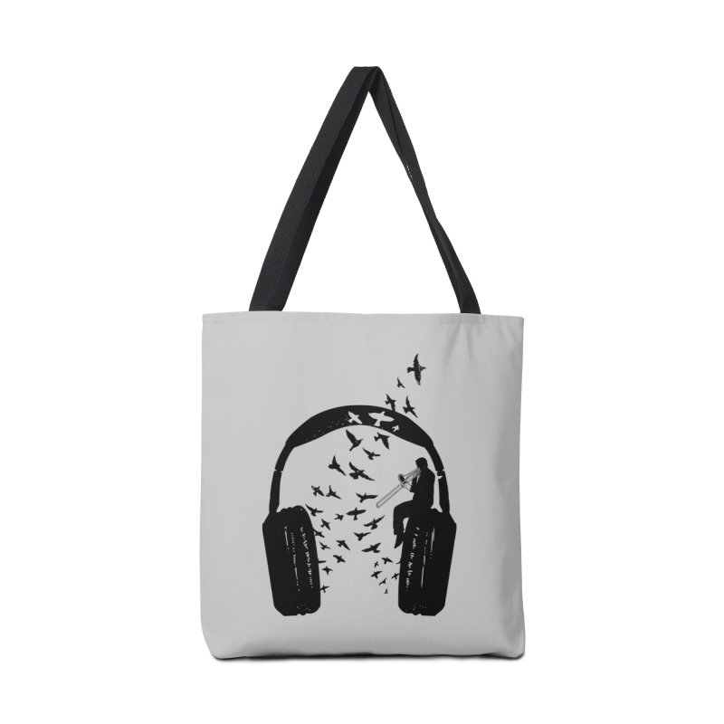 Headphone Trombone Accessories Tote Bag Bag by barmalisiRTB