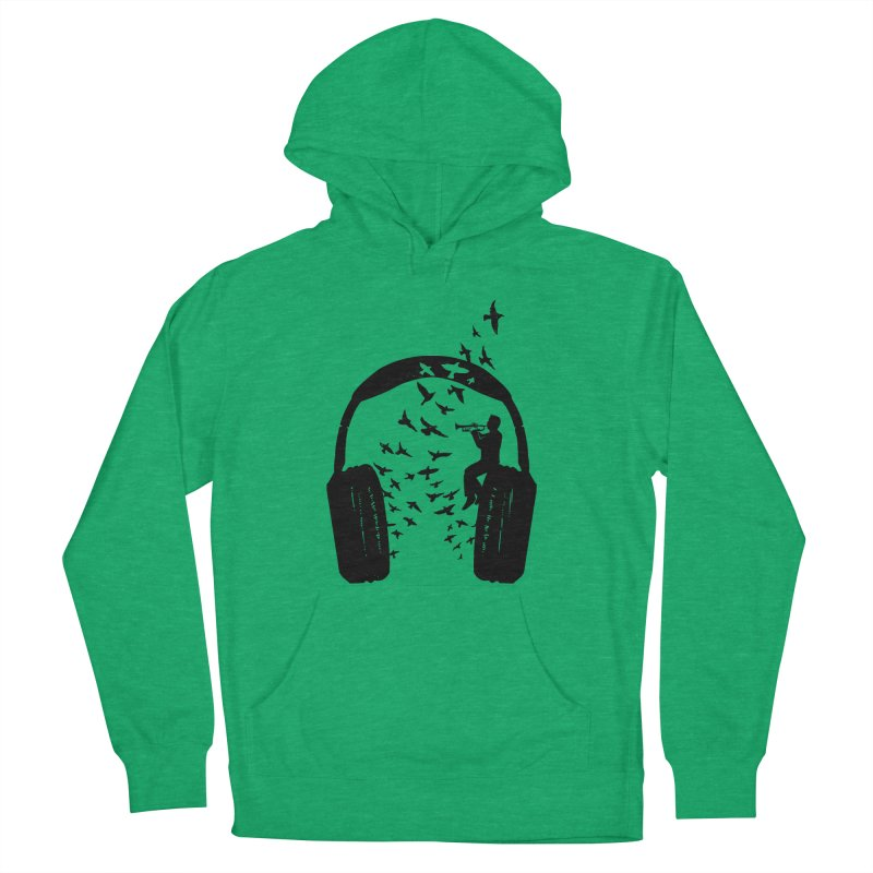 Headphone Trumpet Women's French Terry Pullover Hoody by barmalisiRTB