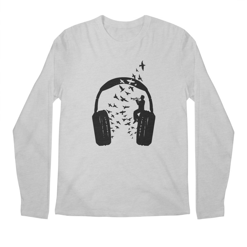Headphone Trumpet Men's Regular Longsleeve T-Shirt by barmalisiRTB
