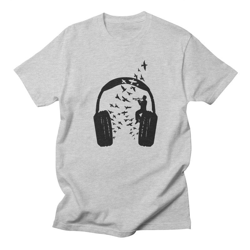 Headphone Trumpet Men's Regular T-Shirt by barmalisiRTB