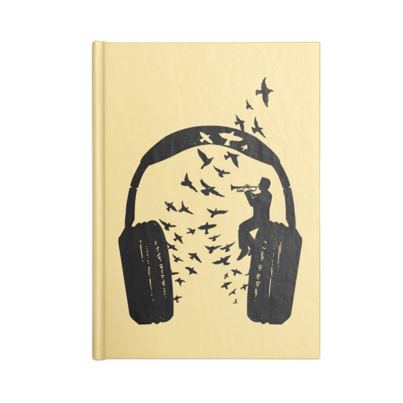 Headphone Trumpet Accessories Blank Journal Notebook by barmalisiRTB