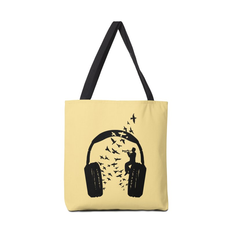 Headphone Trumpet Accessories Tote Bag Bag by barmalisiRTB