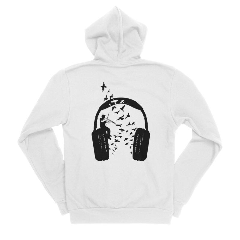 Headphone Viola Damore Women's Sponge Fleece Zip-Up Hoody by barmalisiRTB