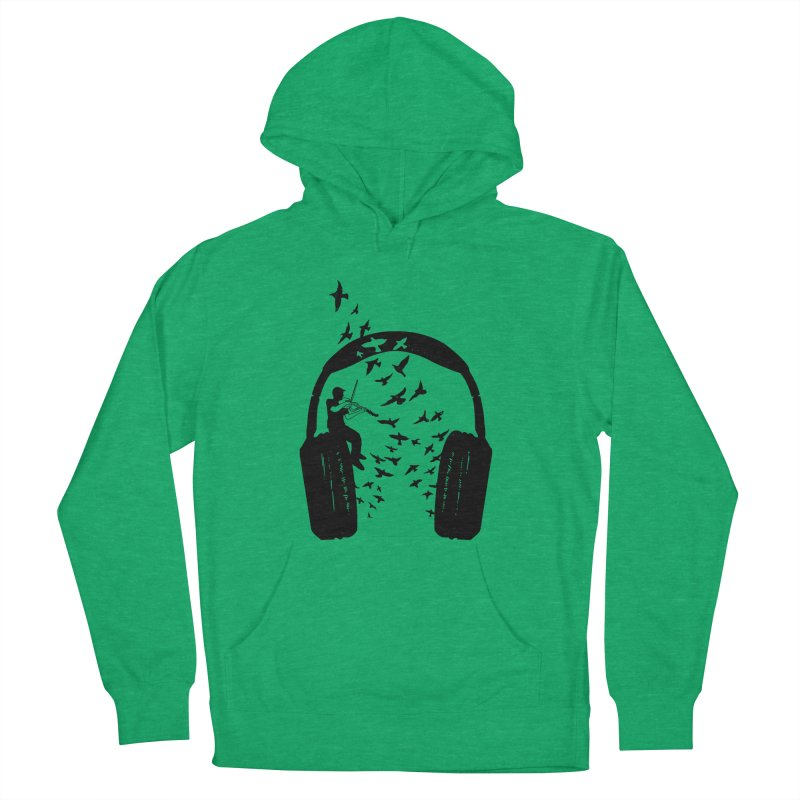 Headphone Viola Damore Women's French Terry Pullover Hoody by barmalisiRTB