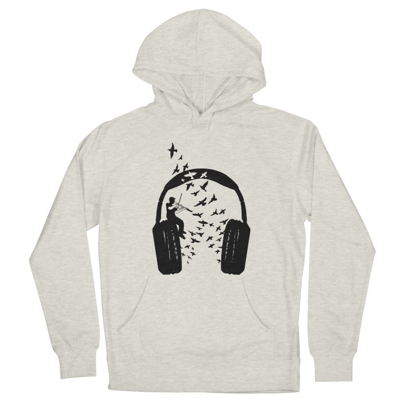 Headphone Viola Damore Men's French Terry Pullover Hoody by barmalisiRTB