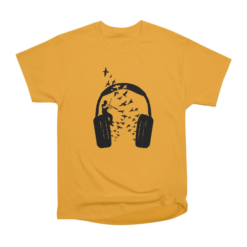 Headphone Viola Damore Women's Heavyweight Unisex T-Shirt by barmalisiRTB