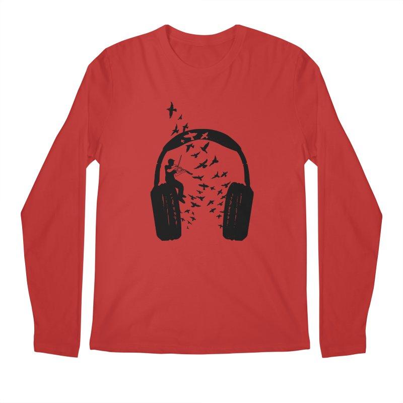 Headphone Viola Damore Men's Regular Longsleeve T-Shirt by barmalisiRTB