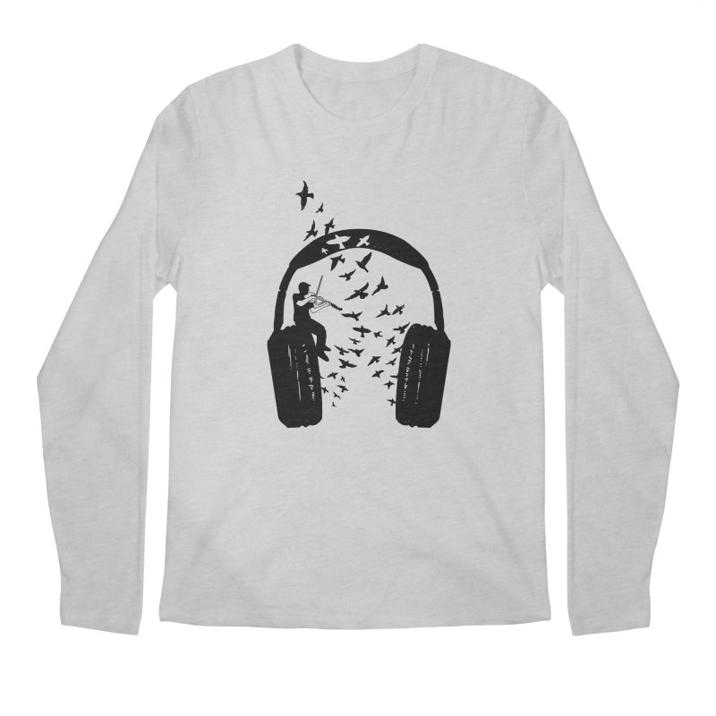 Headphone Viola Damore Men's Regular Longsleeve T-Shirt by barmalisiRTB